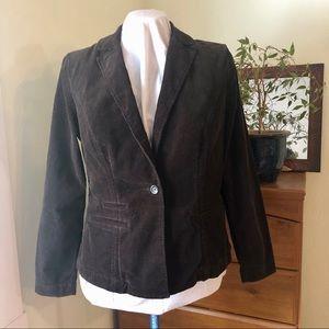 CAbi Chocolate Brown Corduroy blazer (523) size L